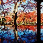 紅葉の苔庭でお茶を一服~箱根美術館の紅葉