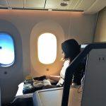 ANAのビジネスクラス-スタッガードシートで快適な空の旅
